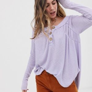 NWT Free People Must Have Henley Lilac Thermal - M